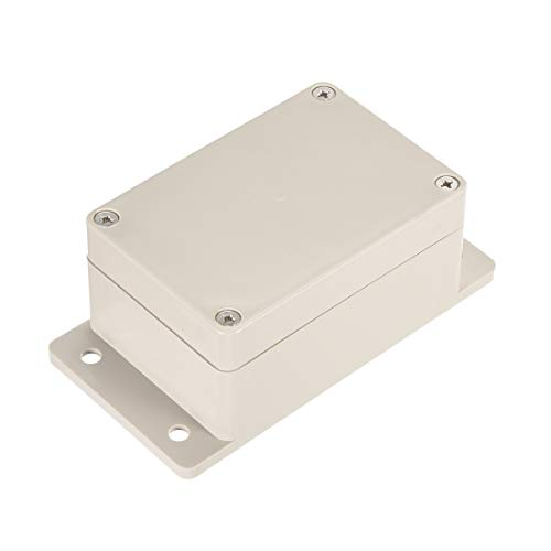 uxcell 3.9 inches x 2.67 inches x 2 inches 100mmx68mmx50mm ABS Junction Box Universal Electric Project Enclosure w Mounting Fixed Hole