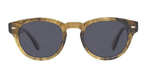 TIJN Marble Keyhole Frame Polarized Sunglasses for Women - Online Wayfarer Shopping Sunglasses