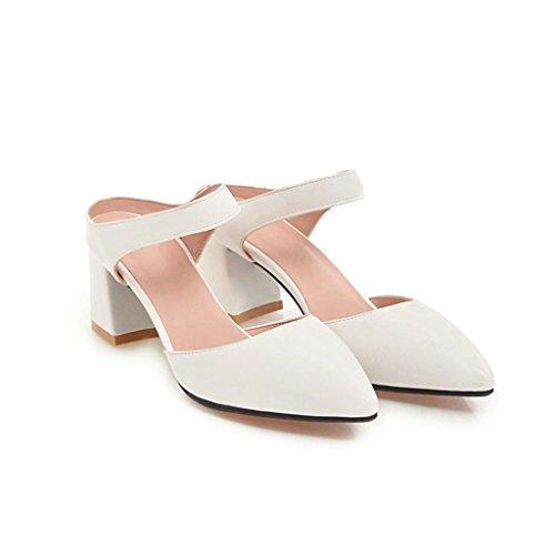 con de Mujer Pulsera y áspero de Zapatillas Verano White Grandes Sandalia de Las Yardas Las Mujer Moda Señoras Simple Sandalias la para qSUpwEqC