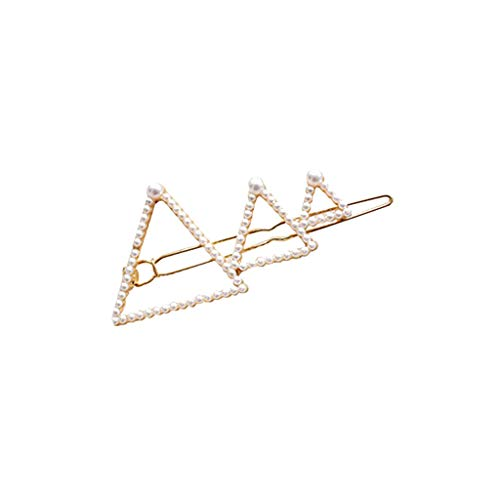 (DealinM  Women's Hairpin,Women's Cute Princess Star Pearl Hairpin Jewelry Gift for Girlfriend Gold)