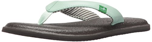 Sanuk Women's Yoga Chakra Flip Flop, Misty Mint, 6 M US