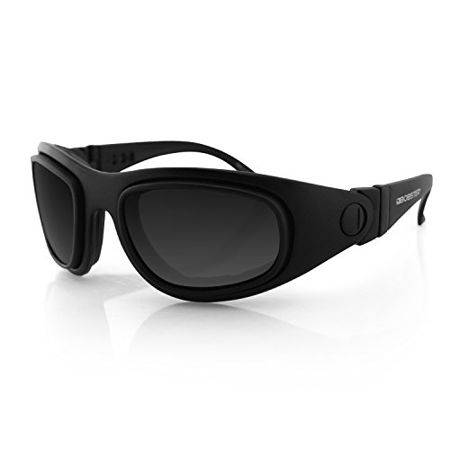 Bobster Eyewear BSSA201AC Sport and Street 2 Convertible Sunglasses, Black Frame/3 Lenses (Sunglasses Bobster Motorcycle Womens)