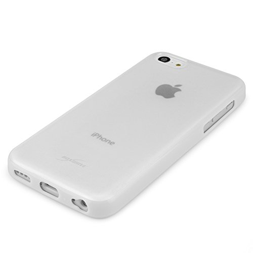 BoxWave Étui pour Apple iPhone 5C Imprimé élégant cas–DUAL TONE Coque en TPU pour protection durable antidérapant, avec arrière mat transparent avec bordure solide–Apple iPhone 5C et coques (Bla
