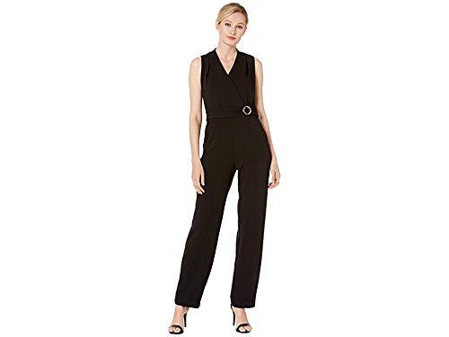 (Tahari ASL Women's Sleeveless Surplice Jumpsuit, Black, 10)