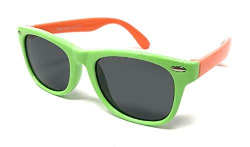 My Shades - Childrens Sunglasses Polarized Soft Sturdy Silicone Frame Ages 2-7 (Green/Orange, ()