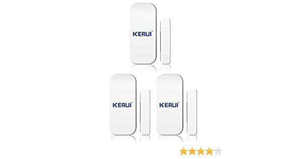 KERUI - magnética ventana puerta las alarmas de sensores Cambrioleur Intruder seguridad X 3 - Alarma inalámbrica Detector magnético apertura puerta ventana ...