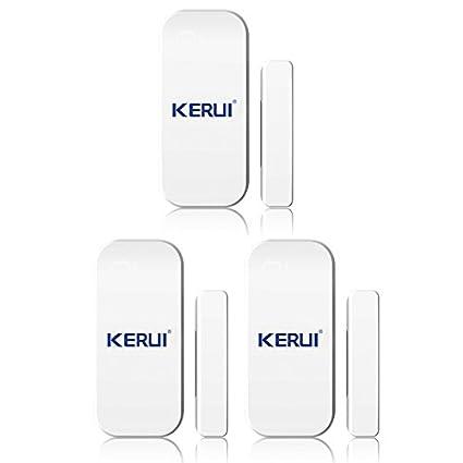 KERUI – magnética ventana puerta las alarmas de sensores Cambrioleur Intruder seguridad X 3 – Alarma inalámbrica Detector magnético apertura puerta ...
