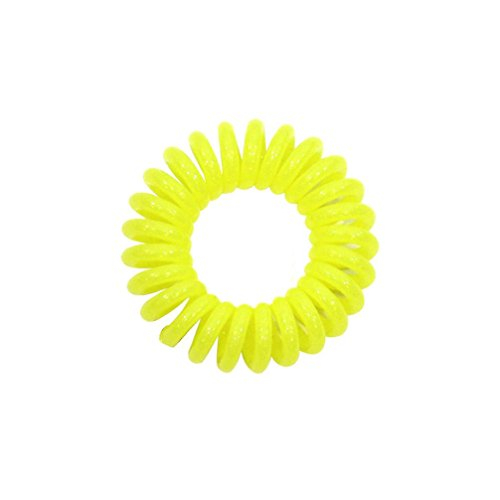 Annie 3PCS InvisiBand Traceless Elastic Hair Ring Rope Ponytail Rubber Hairband (Flash Rubber Wig)