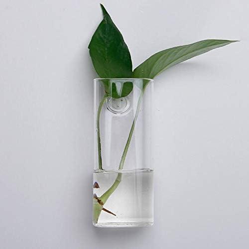 マイクロ景観ボトル 壁には、ロングチューブガラスの花瓶ガーデン水族館空気工場ガラス容器をマウント 植物栽培容器 (色 : Clear, Size : One size)