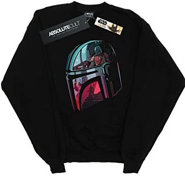 Star Wars Herren The Mandalorian Mandalore Helmet Reflection Sweatshirt Schwarz Small