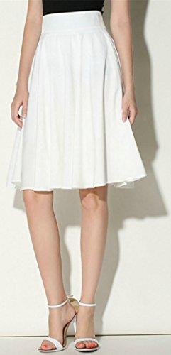 Slim Couleur Option Jupe Plisse et de S Bohme Nouvelle Multi Minceur Blanc Patinage en Jupe lgante Taille Simple Longue Jupe Mi Unie OMUUTR Haute Jupe t Couleur 7WnIqSq6