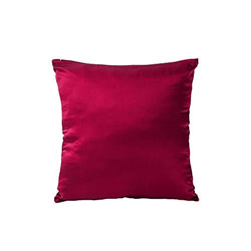 (Tim & Tina 100% Pure Mulberry Luxury Silk Satin Pillowcase,Square Decorative Throw Pillow Case Cushion Cover (18