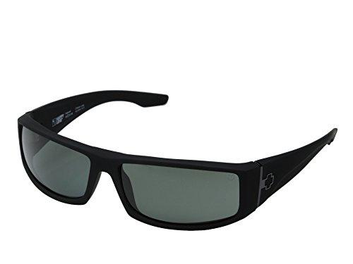 Spy Optic Cooper Wrap Sunglasses, Matte Black Frame/Grey Lens, One - Spy Sunglasses Cooper