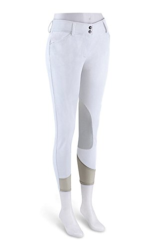 r.j. Classics Ladies PrestigeコレクションGulf Show Breeches re-ホワイト 36 Long ホワイト B01DTEWPQA
