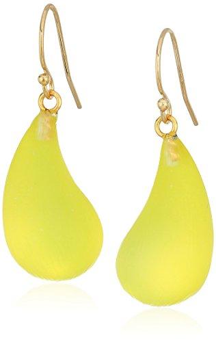 Alexis Bittar Dew Titanium Yellow Drop Earrings