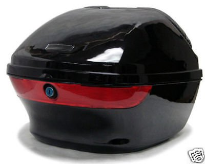 KP Gloss Black Motorcycle Scooter Hard Tail Box Trunk Loc...