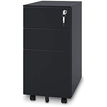 Amazon Com Devaise 3 Drawer File Cabinet With Lock Steel