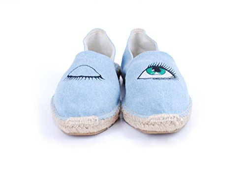 41 basse blu The House Espadrillas Blue Old donna Xq04t