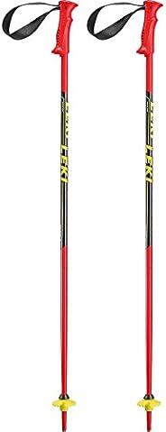 2020 Leki Racing Kids JR Red/Black Ski Poles