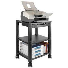 Kantek Printer/Fax Stand, Mobile, 3-Shelf , 17''x13-1/4''x24-1/4'', BK (PS540) by Kantek