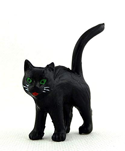 Melody Jane Dolls Houses House Miniature Animal Pet Halloween Accessory Black Cat Standing]()