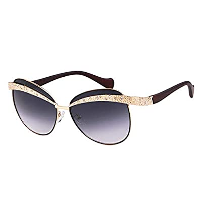 Sunglasses Women NEW Vintage Cool Gold Eyebrow Frameless Lady Sun Glasses OM687