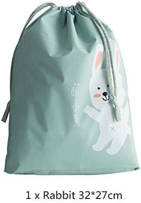 Jjack Suitcase Shoes Underwear Travel Storage Bag Cartoon Waterproof Organizer Clothes Packing Drawstring Bag