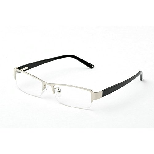 MINCL/Vintage Rectangular TR90 Frames Prescription Eyeglasses -yhl (silver, - Brands Eyeglasses End High