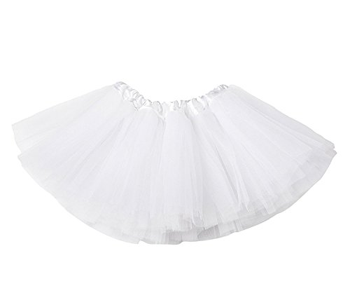 Dance Fairy Costumes (Trader Plus Ballerina Basic Girls Dance Dress-Up Princess Fairy Costume Dance Recital Tutu (White))