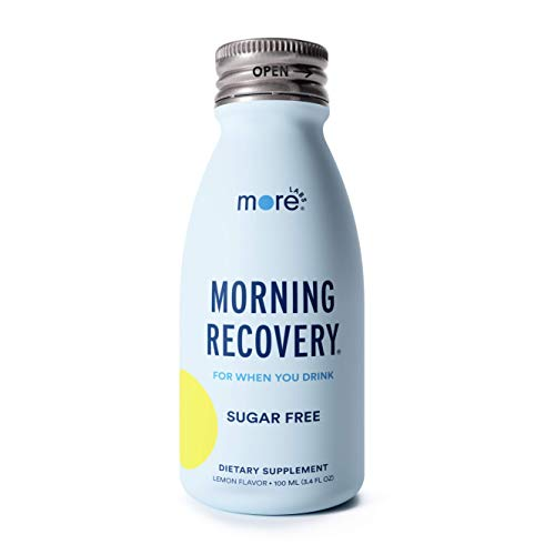 Morning Recovery by More Labs, Patent-Pending Sugar Free Complete Liver Protection & Hydration Shot with Liquid DHM and Electrolytes, No Artificial Flavors, Lemon (Sugar-Free), Pack of 6