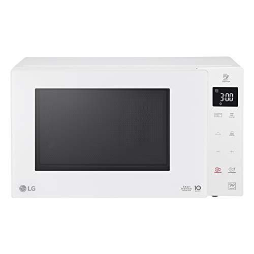 LG MH6535GDH Microondas Grill Smart Inverter Microondas 1000 W, Grill 900 W, Micro+Grill 1450 W, 25 litros de capacidad, Display LED, Steam Bowl, Plato interior 292 mm, Color Blanco