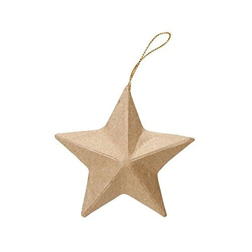 Darice DIY Crafts Paper Mache Ornament 3.25