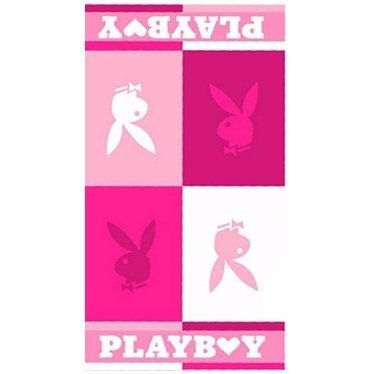 Playboy Blocks Pink Beach Towel (76 x 152cm) (Pink) by Playboy