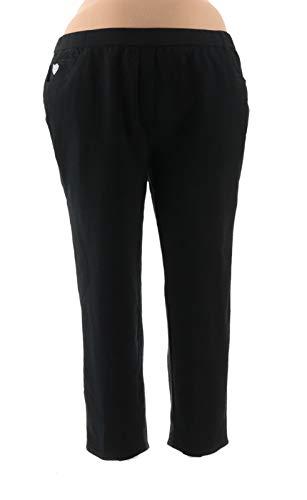 (Quacker Factory Short DreamJeannes Slim Leg Pants Black 3X New A294020)