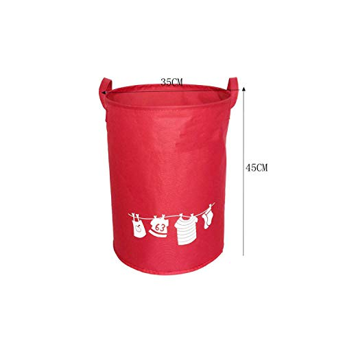 fantasticlife06 Elephant Foldable Basket Waterproof Bathroom Dirty Clothes Storage Baskets For Toy Sundries Kids Room Organizers,Red1 (Best Hardware For Virtualization)