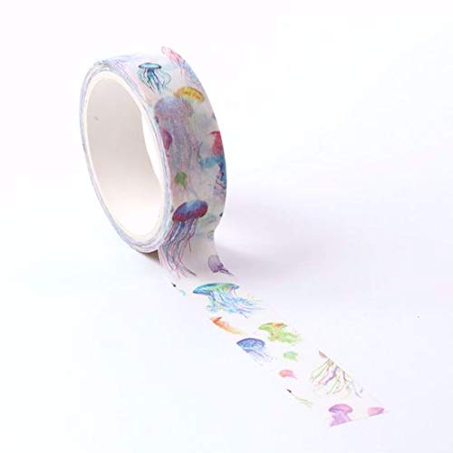 Jellyfish Washi Tape for Planning /• Scrapbooking /• Arts Crafts /• Office /• Party Supplies /• Gift Wrapping /• Colorful Decorative /• Masking Tapes /• DIY