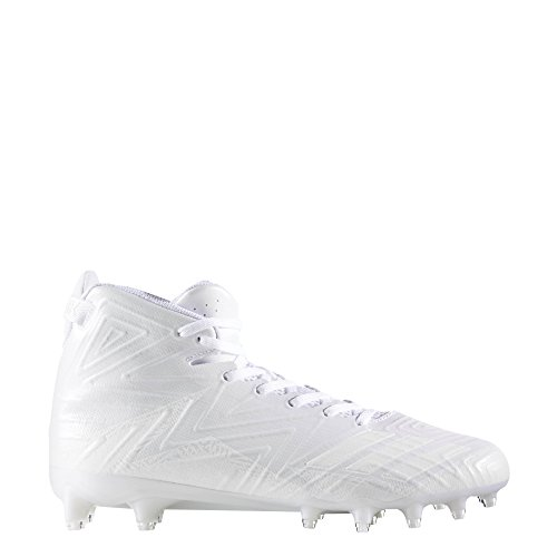 adidas Men's Freak X Carbon Mid Football Shoe, White/White/White, 13 Medium US by adidas