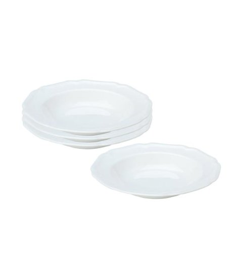 Mikasa Antique White Set of 4 Soup Bowls - White