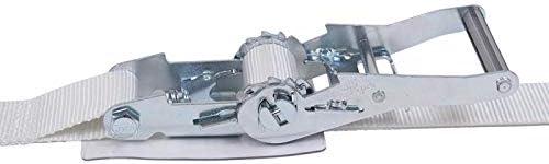 アヴィエラン(AVIELAN) ラッシングベルトJフック ×6m 固定側0.7m ホワイト