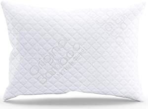 Original Bamboo Shredded Memory Foam Adjustable Pillow with Removable Hypoallergenic Cover American Series - Made in the USA