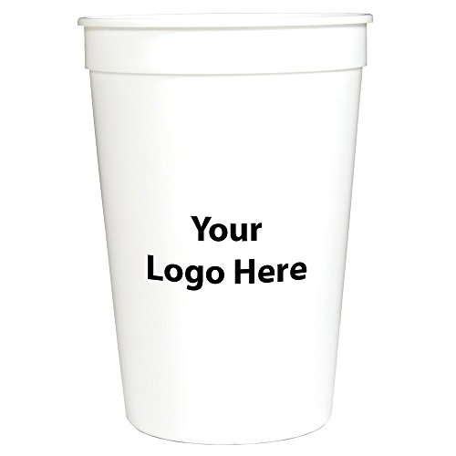 Personalized Custom Stadium Cups? Smooth Finish - 250 Quantity - $0.60 Each - Bulk Promotional Product with Your Logo/Customized. 16-Ounce Capacity.