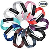 Konikit for Fitbit Alta HR and Alta Bands, Soft Accessory Replacement Strap Wristbands with Metal Buckle Clasp for Fitbit Alta/Alta HR Smart Fitness Tracker