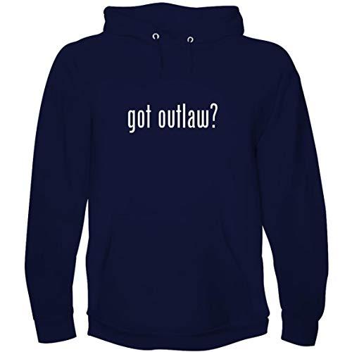 The Town Butler got Outlaw? - Men's Hoodie Sweatshirt, Navy, -