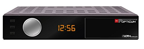 Opticum HD Sloth Combo Plus DVB-S/S2/T/T2-C Digital IP Receiver (HDTV, H.265, HEVC, HDMI, SCART, IPTV, LAN, USB) schwarz