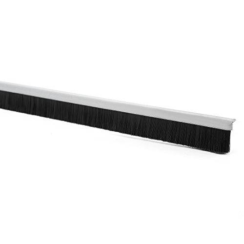 uxcell 39-inch x 0.4-inch Door Bottom Sweep Nylon Brush Insert Seal - Sweep Door Steel