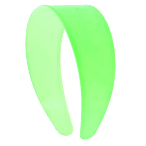 Neon Green 2 Inch Hard Plastic Headband with Teeth Women and Girls wide Hair band (Motique Accessories)