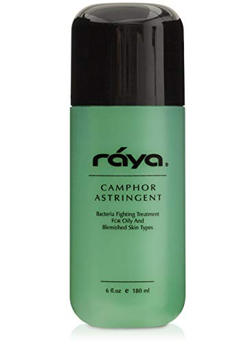 RAYA Camphor Astringent 6 oz (204)   Effective Facial Toner for Oily and Break-Out Skin   Helps Dry Up Blemishes and Control Excessive Oiliness   Made With Camphor and Eucalyptus