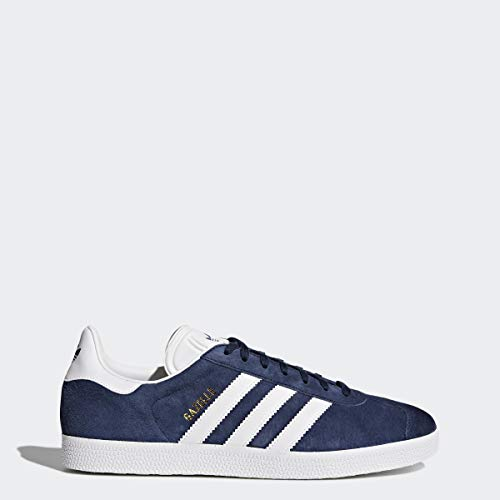 Adidas Originals Men's Gazelle Lace-up Sneaker,Collegiate Navy/White/Gold Met.,10 M US (Adidas Gazelle Og Leather Trainers In Burgundy White)