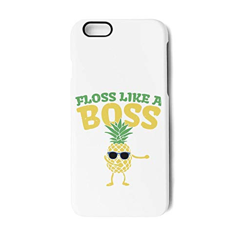 (Floss Like A Boss Dance Pineapple TPU Phone Case for iPhone 7plus/8plus Unisex Vintage Shock Absorbent Back Cover Skin)