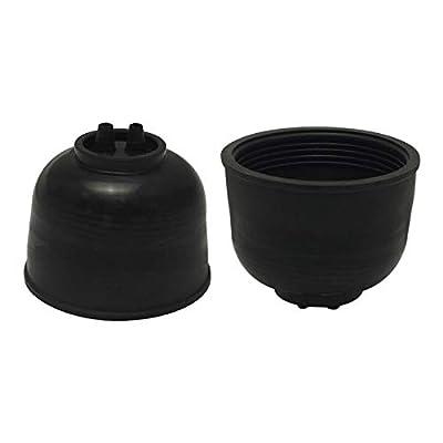 FEELDO 2pcs Waterproof DustProof Cover Rubber Anti-Dust Sealing for 45mm-45mm Car LED/HID Headlight Cover Cap